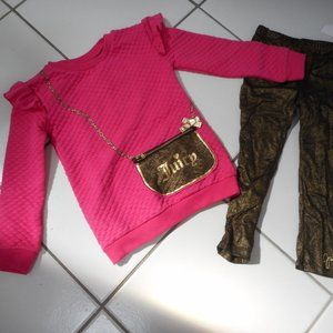 New JUICY COUTURE Girls 5 Tunic Top Leggings Set
